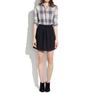 Madewell Black Bistro Circle Skirt